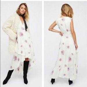 Free People White Birdie Floral High Low Dress